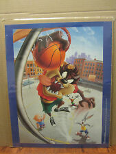 vintage looney tunes 1995 Basketball poster Taz Bugs bunny daffy duck 2328