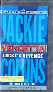 Vendetta-Lucky-039-s-Revenge-Jackie-Collins-1997-Cassette-Abridged-Audio-Book