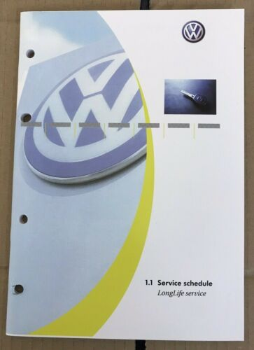 NEW BLANK VW VOLKSWAGEN SERVICE HISTORY BOOK COVERS ALL MODELS OEM PRODUCT