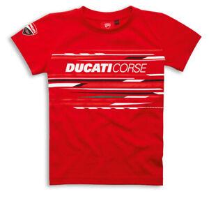 DUCATI-Corse-Sport-Kinder-KIDS-kurzarm-T-Shirt-rot-NEU-2020