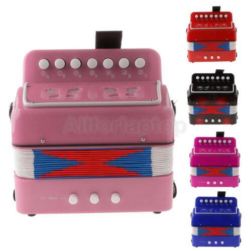Kinder Akkordeon Ziehharmonika 7 Tasten Pädagogisches Spielzeug Geschenk