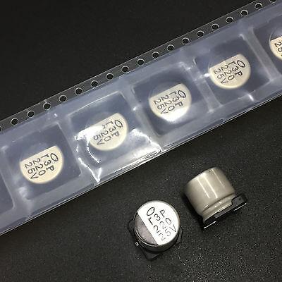 20pcs 220uF 25V Nichicon 10X10mm 25V220uF SMD Electrolytic Capacitor