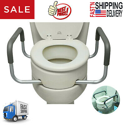 Admirable Raised Toilet Seat With Arms Elongated For Elderly Handicap Bathroom Riser Lift Cjindustries Chair Design For Home Cjindustriesco