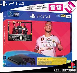CONSOLA SONY PS4 PLAYSTATION 4 1TB FIFA 2020 2 MANDOS NEGROS STOCK REAL ESPAÑA