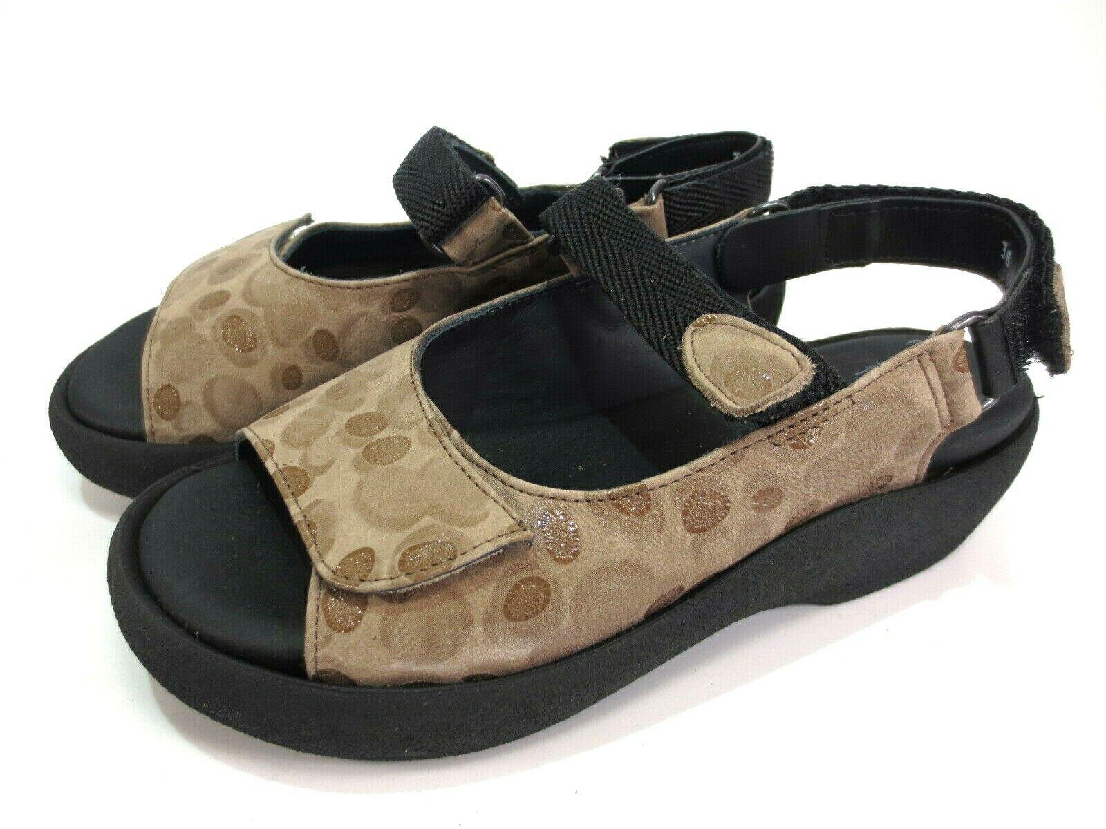 Wolky Tulip Jewel confort cuero sandalias zapatos de Color marrón velcro talla 38 nuevo depósitos