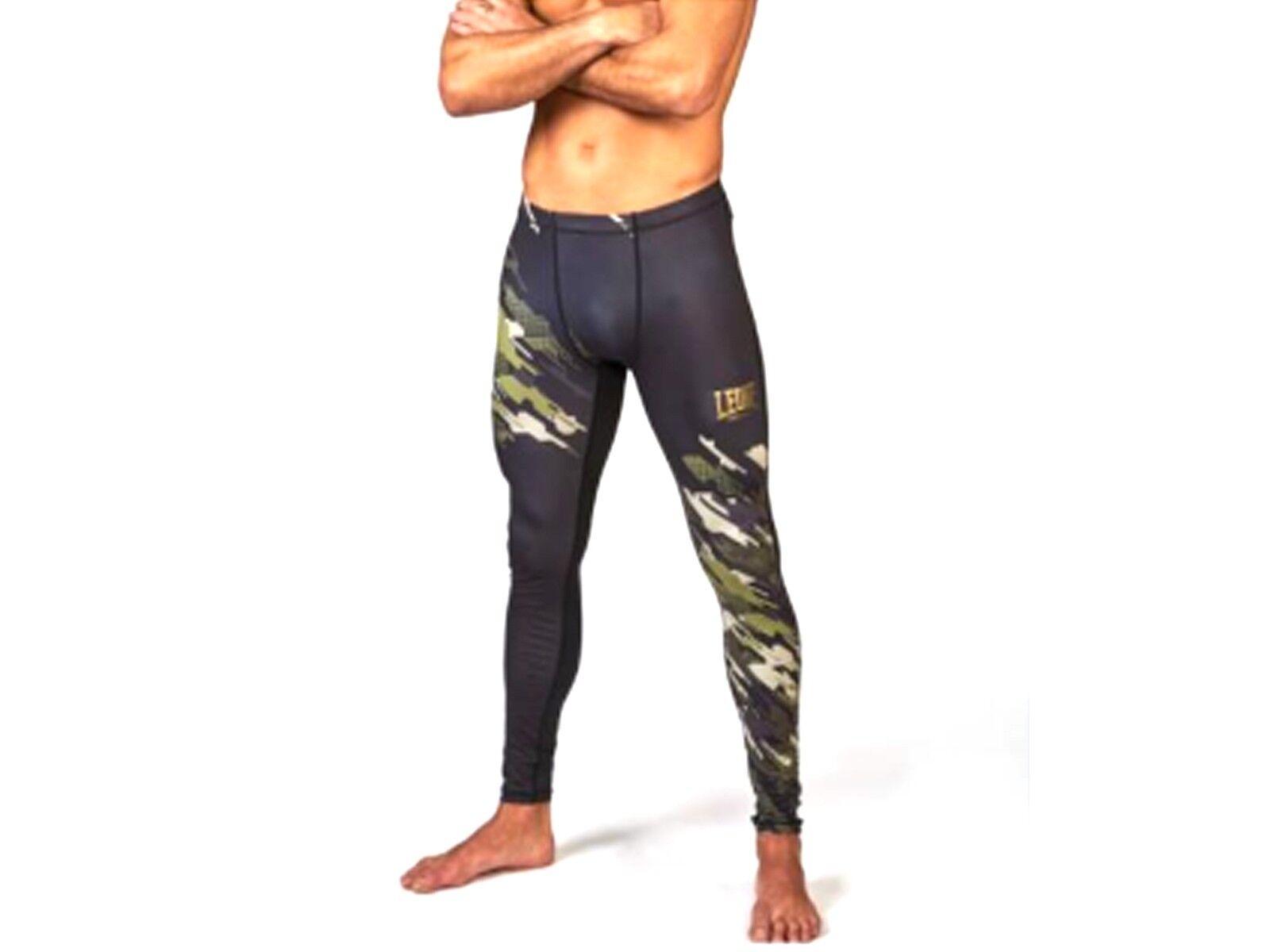 PANTALONI MMA  LEONE  ABX56 16 NEO CAMO COMPRESSION VERDE/MIM