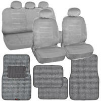 Gray Car Seat Covers Vintage & Thick Auto Floor Mats Woven Original on sale