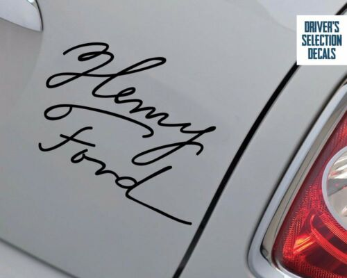 Henry Ford Signature sticker window decal