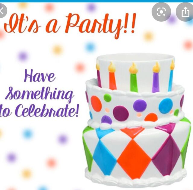 Astonishing Its A Party Premium Scentsy Warmer Happy Birthday Cake Candles Funny Birthday Cards Online Overcheapnameinfo