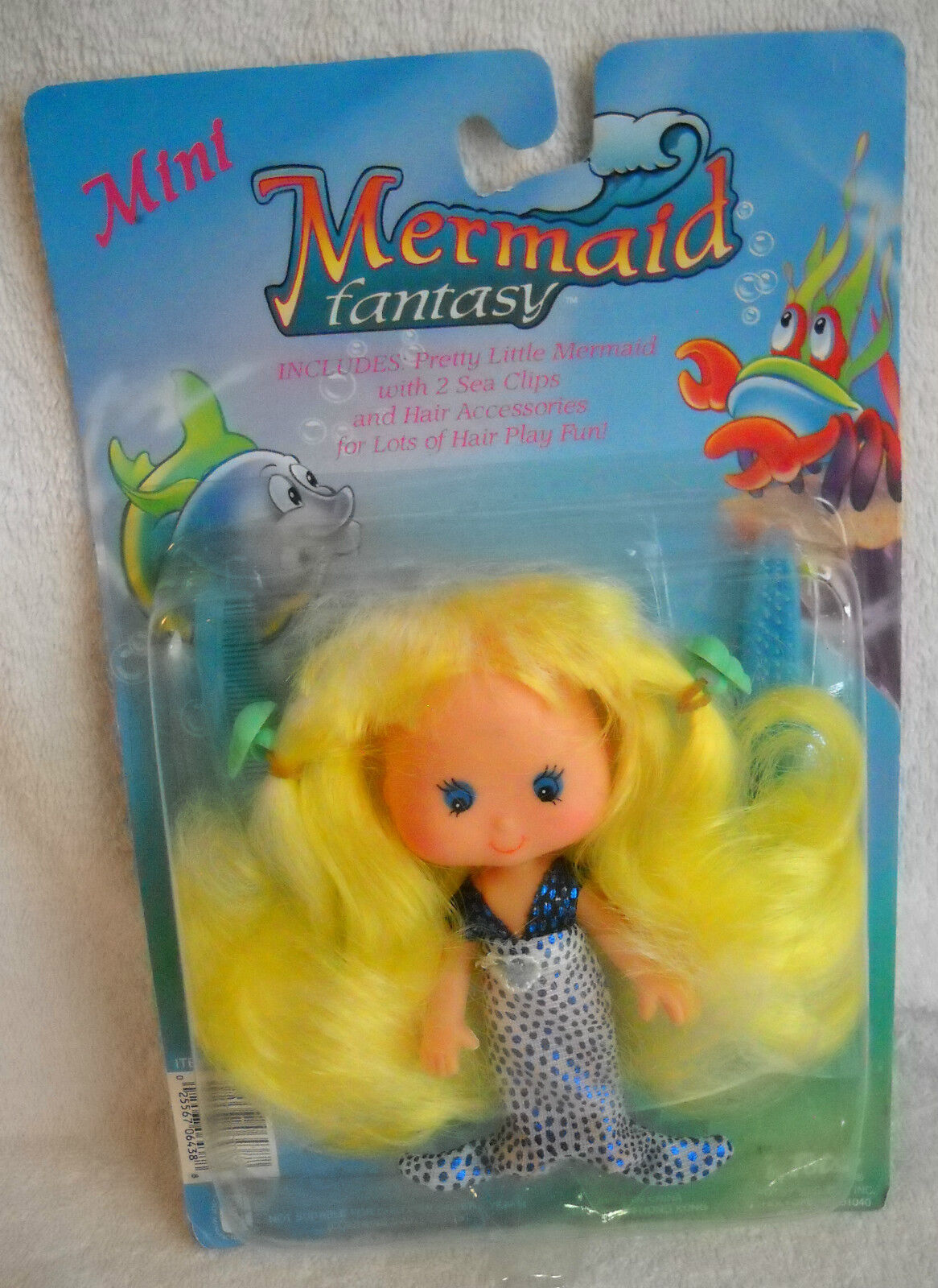 Nrfc Vintage TOTSY Mini sirena muñeca de fantasía con cabello amarillo
