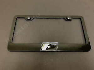 B Screw Cap 1x F LOGO 3D Emblem STAINLESS STEEL License Plate Frame RUST FREE