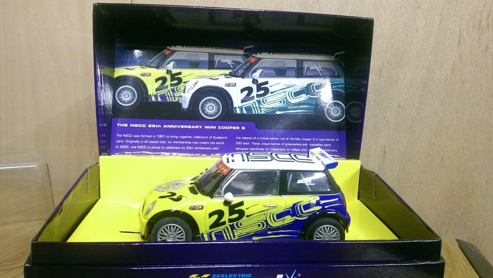 Scalextric C2599A Mini Cooper S NSCC 25th Anniversary car Ltd Ed. 451 of 500 New