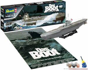 DAS BOOT movie 40th Anniversary Gift Set plastic Submarine kit 1:144 REVELL 5675