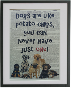 Details about Dog Print No 530, dictionary prints, funny dog quotes
