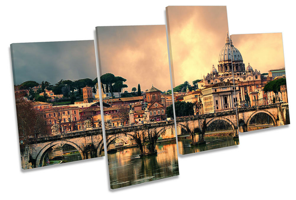 Rome  Sunset Picture MULTI CANVAS WALL ART Print