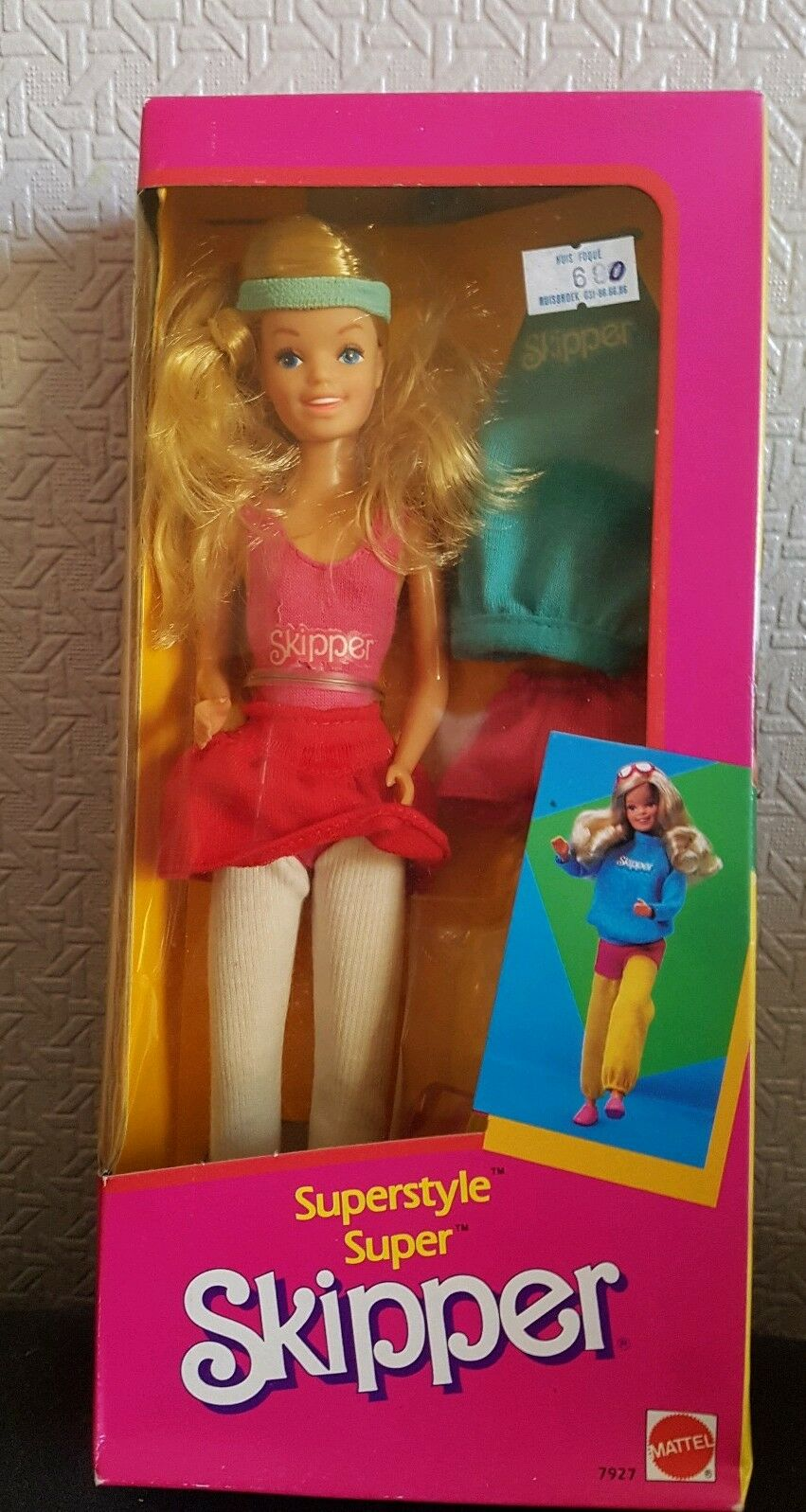 Poupée Skipper Superstyle . Mattel Neuf Scellé.  Année 1983 . Numéro 7927 .