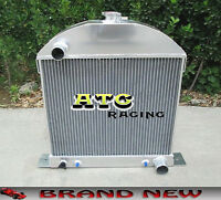3 Core Aluminum Radiator For 1928-1931 Ford Model A Chopped W/chevy Engine 30 31
