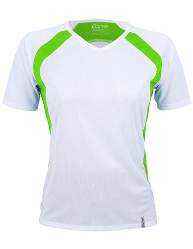 Cona Sports Pace Ladies Tech Tee Shirt Funktionsshirt Slim-Fit Raglan Kontrast