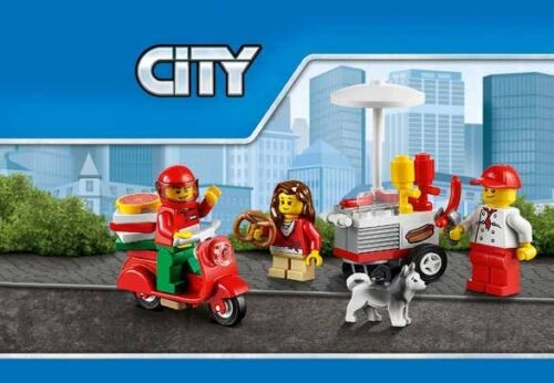 LEGO 60097 PIAZZA DELLA CITTÀ CITY SQUARE sacchetti nuovi, istruzioni, sticker