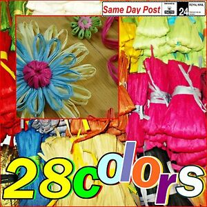 Paper-Raffia-Ribbon-for-decorations-flowers-gifts-crafts-etc-Colours-amp-Lengths
