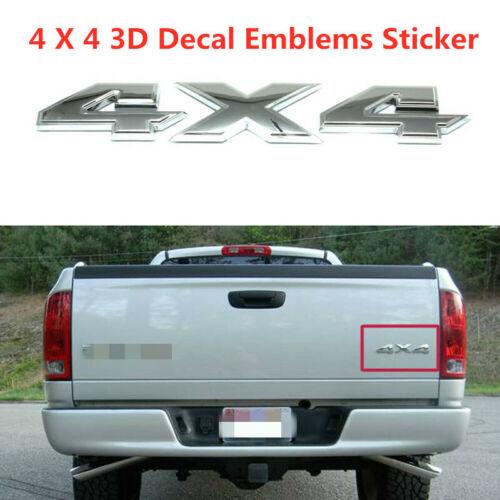 Nameplate Chrome 3D 4X4 Rear Emblem Badge Car Truck For Dodge Ram 1500 2500 3500