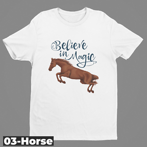 Ladies Mens Horse Horse Jumping Fantasy cowboy Design T-shirt03