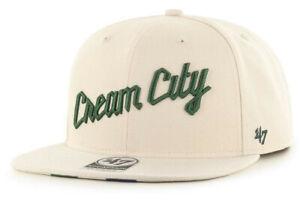 MILWAUKEE-BUCKS-NBA-WHITE-SNAPBACK-CITY-EDITION-CAPTAIN-CAP-HAT-NEW-039-47-BRAND