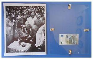 Benito-Mussolini-posa-prima-pietra-Sabaudia-duce-fascismo-quadro-cornice-vetro