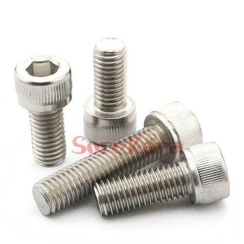 20//25 pieces Metric M8*1.25 Stainless Steel Hex Socket Bolt Screws