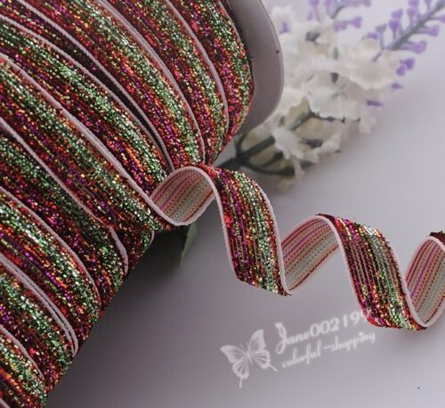 20y Double Color Gillter Velvet Ribbon Wedding Party Supply Decor Crafts RG025