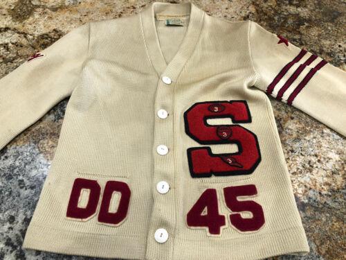 1940s Octonek Cardigan Varsity Sweater Vintage USA