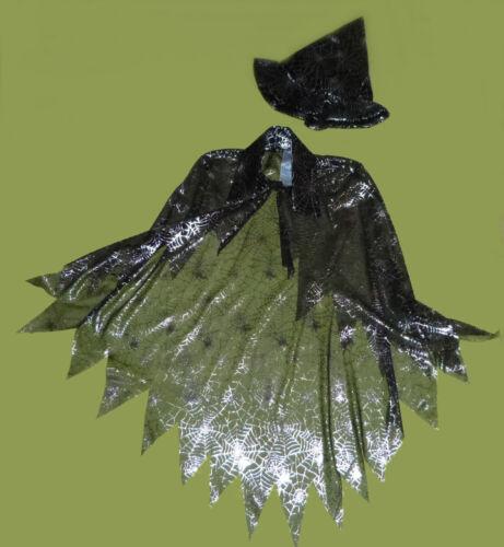 GLITTER incantesimo Cape con magico MANTELLA CAPE mago maga 116-128 134-152
