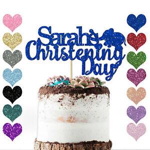 PERSONALISED-Newborn-Baby-Christening-Day-ANY-NAME-Cake-Topper-Boy-Girl-Baptism