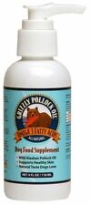 4 oz OUNCE GRIZZLY POLLOCK OIL DOG CAT FOOD SUPPLEMENT *FRESH* SEALED SALMON