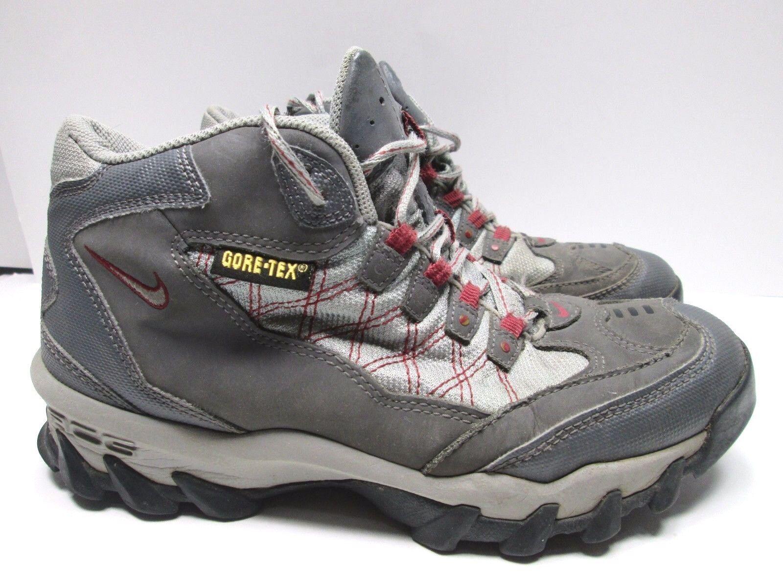 NIKE ACG Tengu Mid Gore-Tex Ankle Boots Gray  WOMENS 8 Hiking Trail