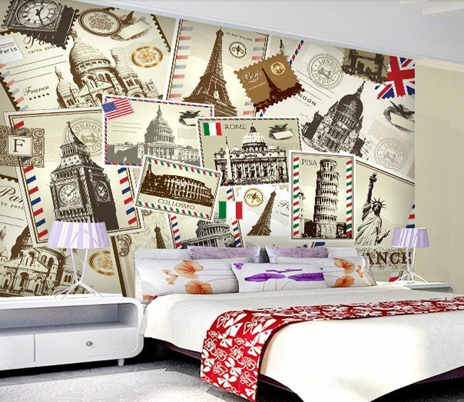 3D Stamps World picture 0154 Wall Paper Wall Print Decal Wall Deco AJ WALLPAPER