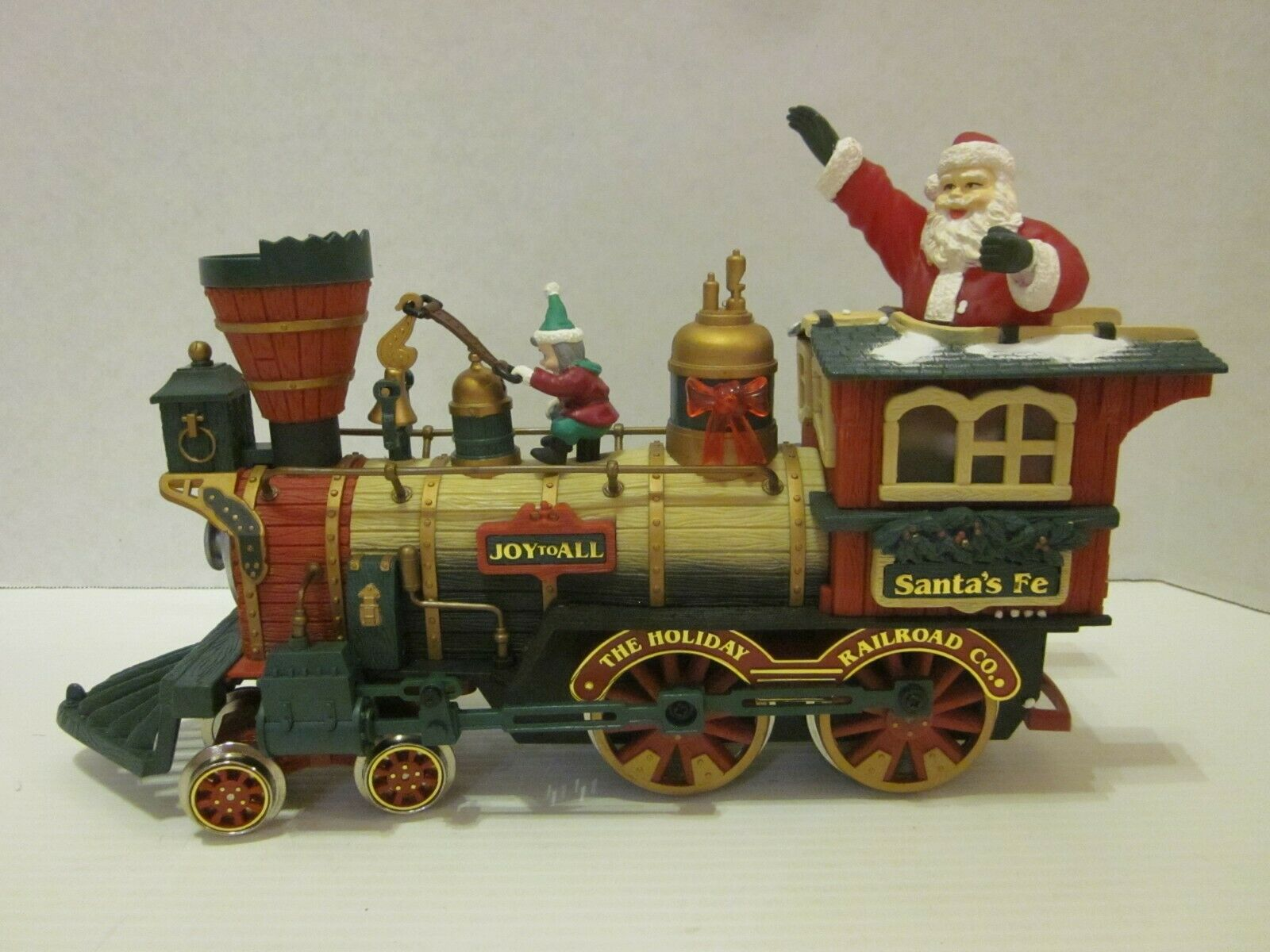 New Bright Holiday Express Locomotive Engine 387 384 Train Santa's Fe Animated G