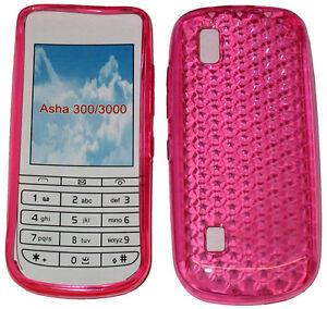 Per-Nokia-Asha-300-3000-PATTERN-GEL-JELLY-CASE-COVER-PROTETTIVA-CUSTODIA-ROSA-NUOVO