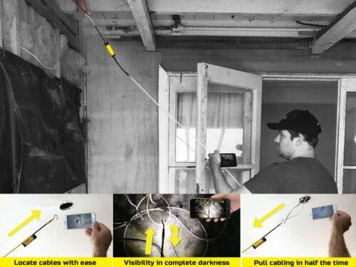 Super Rod SRFERRET Ferret WiFi Wireless Inspection Camera /& Cable Pulling Tool