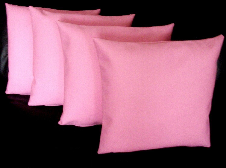 4 en cuir synthétique rose classique HOUSSES DE COUSSIN 16  18  20  Diffusion Oreillers