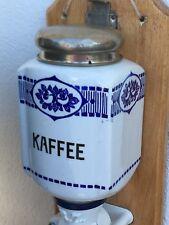 *Zassenhaus* Alte Wandkaffeemühle, schönes Dekor, weiß/blau, Landhaus Stil