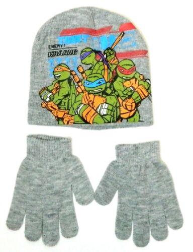 TMNT Kids Girls Boys Official Mutant Teenage Ninja Turtles BeanieSki Hat Gloves