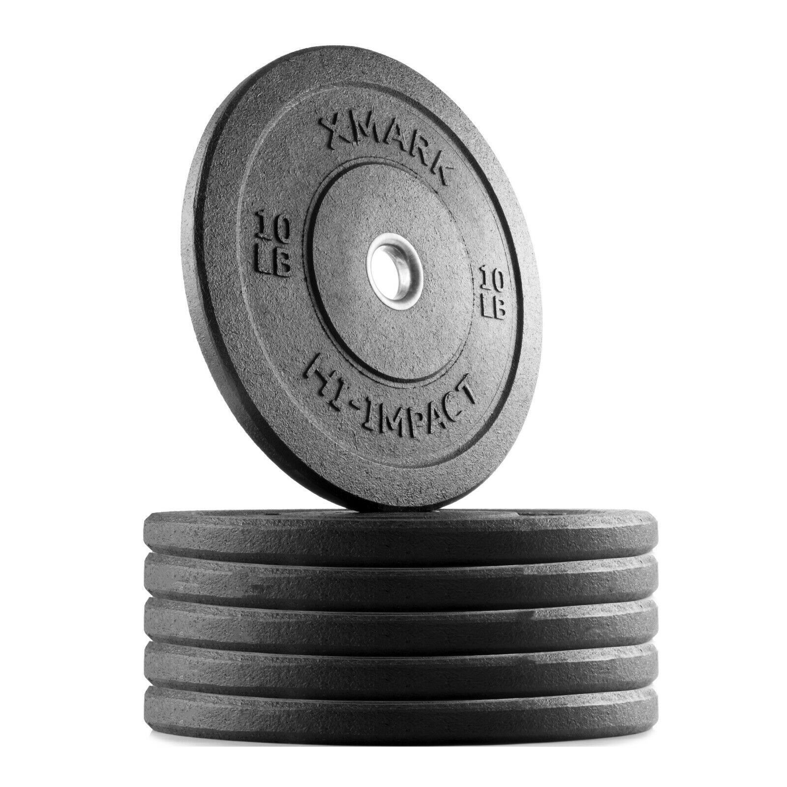 XMark XM -3391 -10 -SIX HI -IMPACT Three 10 lb. Par av Olympic Bumper Plate Weights