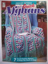 Quick crochet Afghans pattern stripes Snowflakes ruffled granny shell trellis