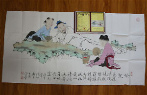 RARE-LARGE-Chinese-100-Handed-Painting-By-Fan-Zeng-DH10818