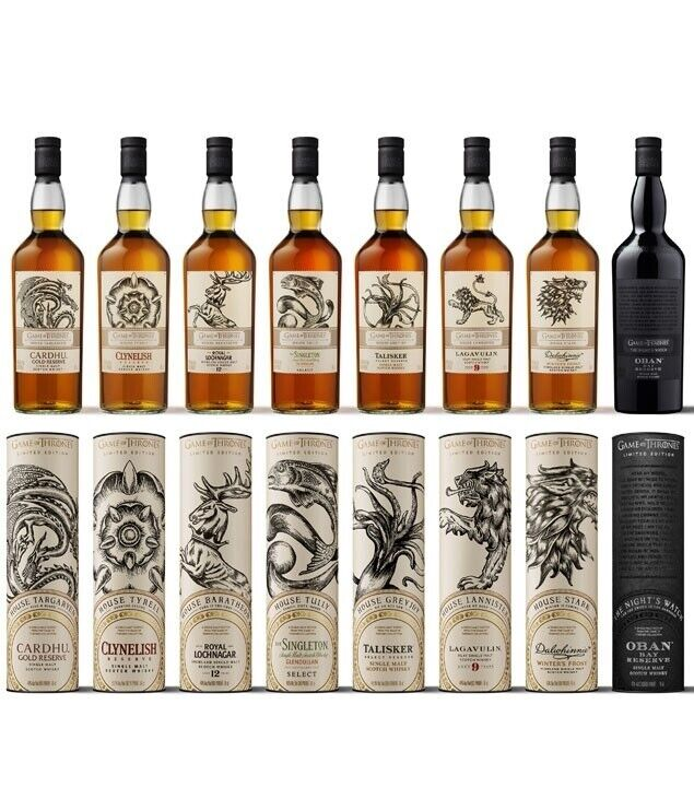 GAME OF THRONES WHISKY COLLECTION 8 stk