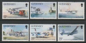 Guernesey-1989-Guernesey-Aeroport-Ensemble-MNH-Sg-456-61