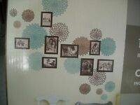 Dcwv Home Frame Collage With Wall Decals And 8 Photo Picture Frames