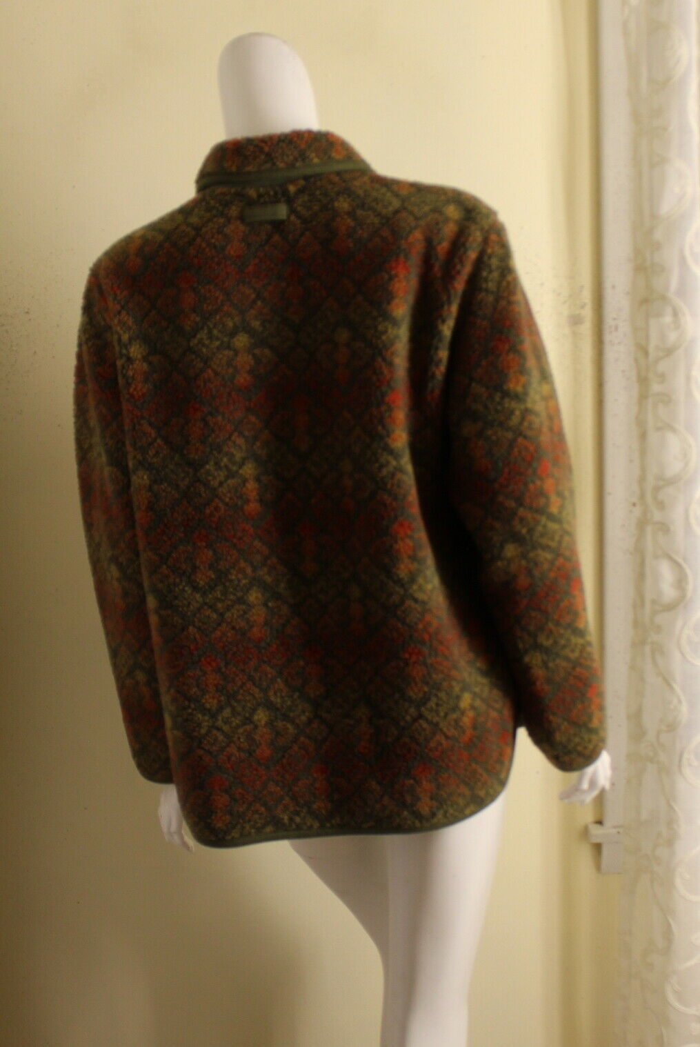 ORVIS -Sz M Lux Deep Pile Fleece Printed Art-to-W… - image 7