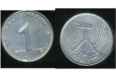 Allemagne Ddr 1 Pfennig 1953 A Lage Prijs